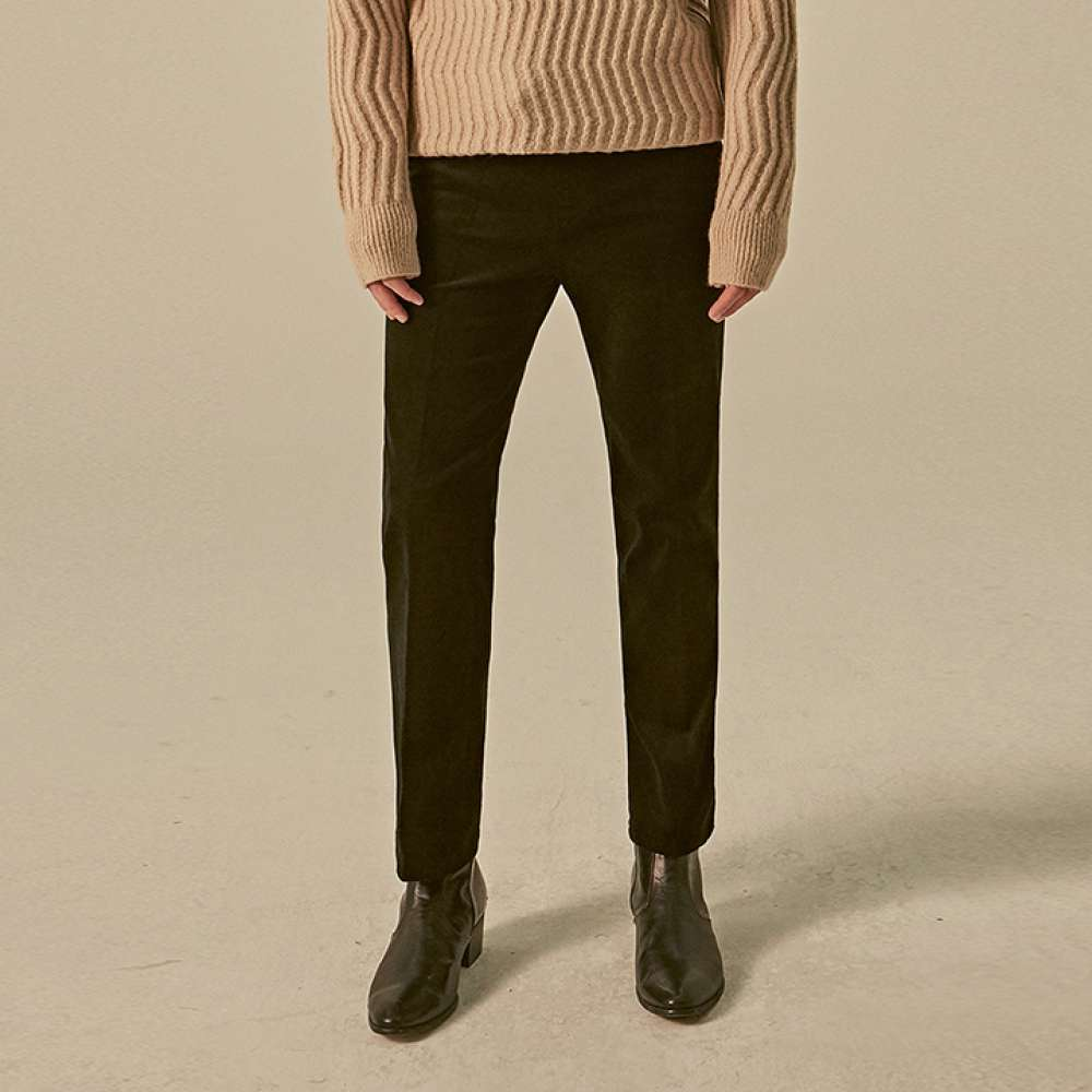 [딘스] CORDUROY NEW STRAIGHT PANTS_BLACK