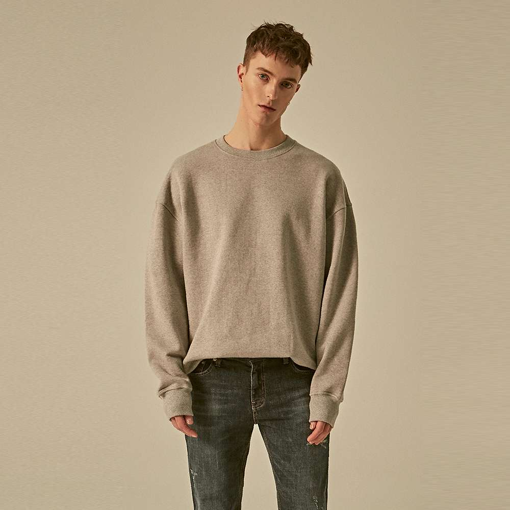 [딘스] DROP SHOULDER CREW NECK_GRAY
