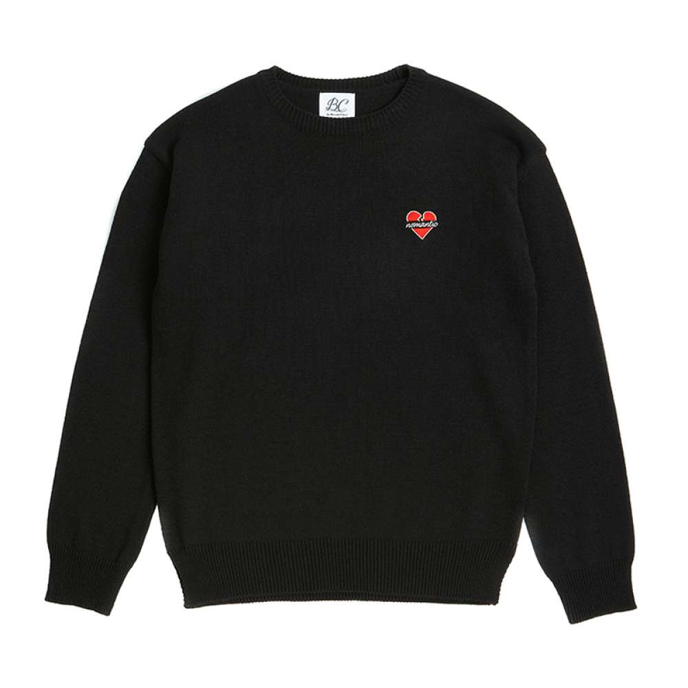 [비욘드클로젯] NOMANTIC LOGO BASIC KNIT BLACK