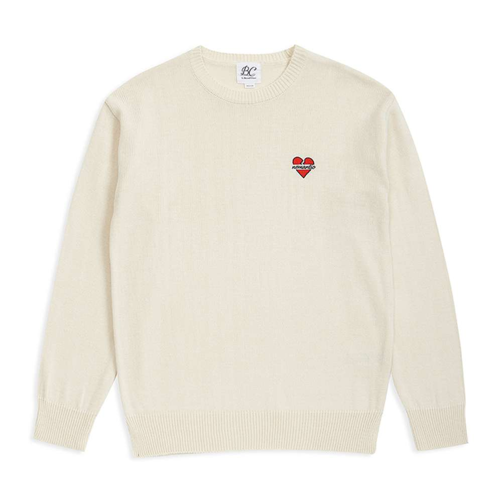 [비욘드클로젯] NOMANTIC LOGO BASIC KNIT IVORY