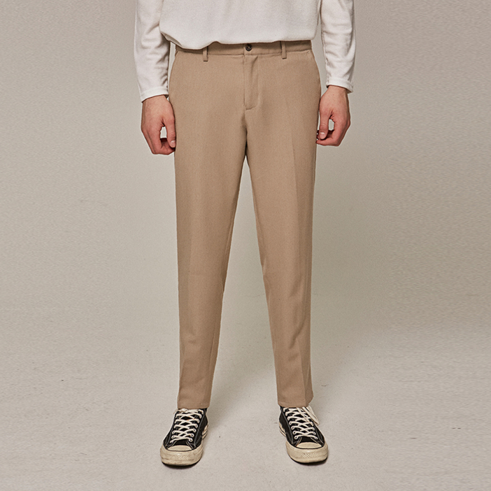 [YAN13] BASIC STRAIGHT SLACKS_BEIGE