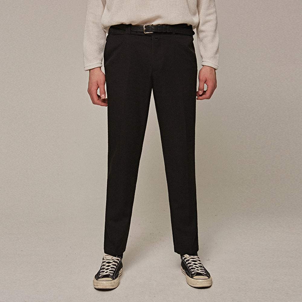 [YAN13] STRAIGHT LONG SLACKS_BLACK