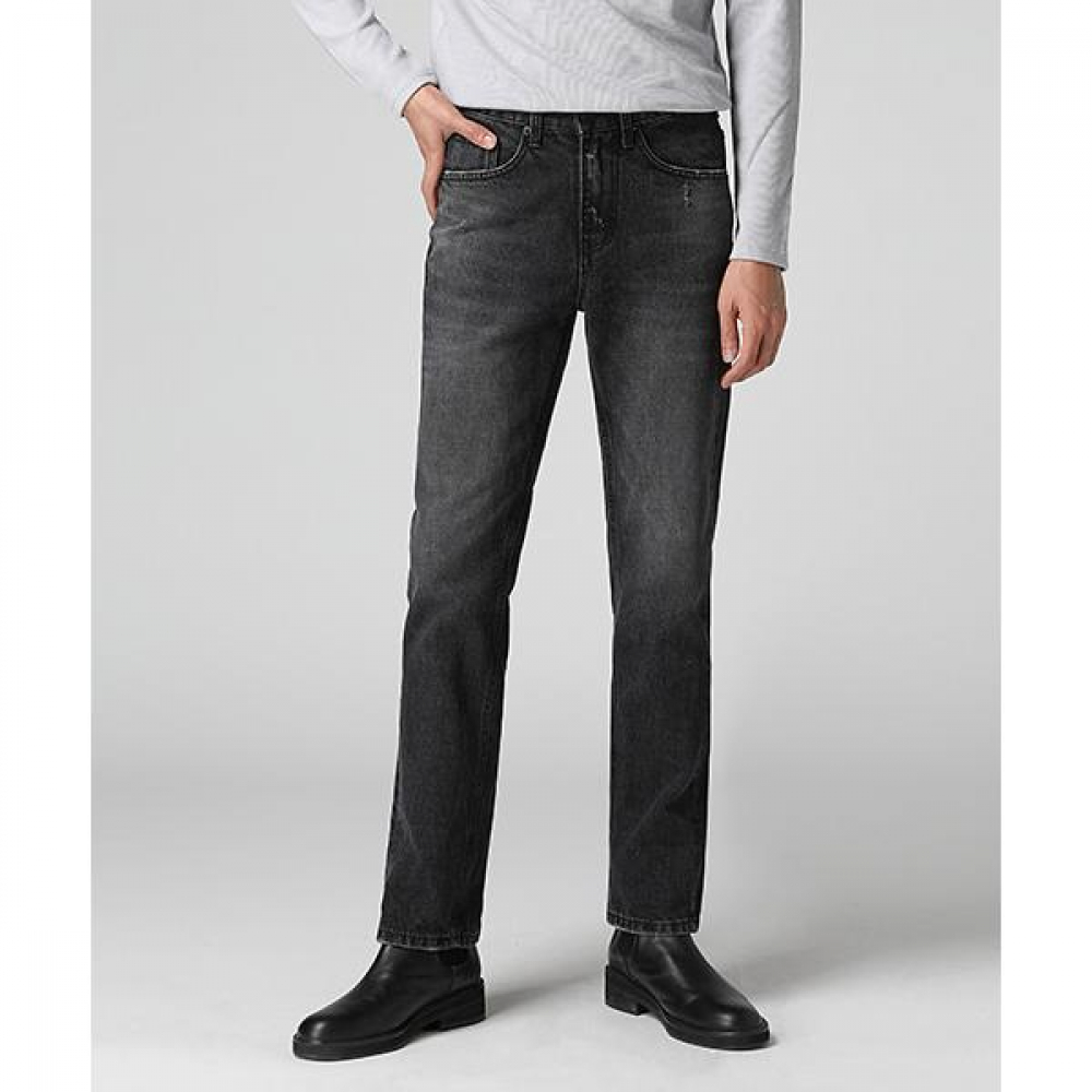 Nonspan Straight Washed Jeans(2col) <br>논 스판 스트레이트 워싱 진