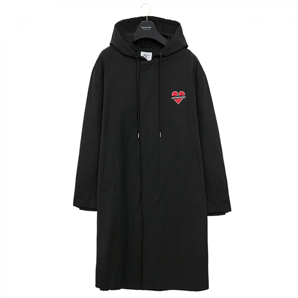 [비욘드클로젯] NOMANTIC HOOD SINGLE COAT BLACK