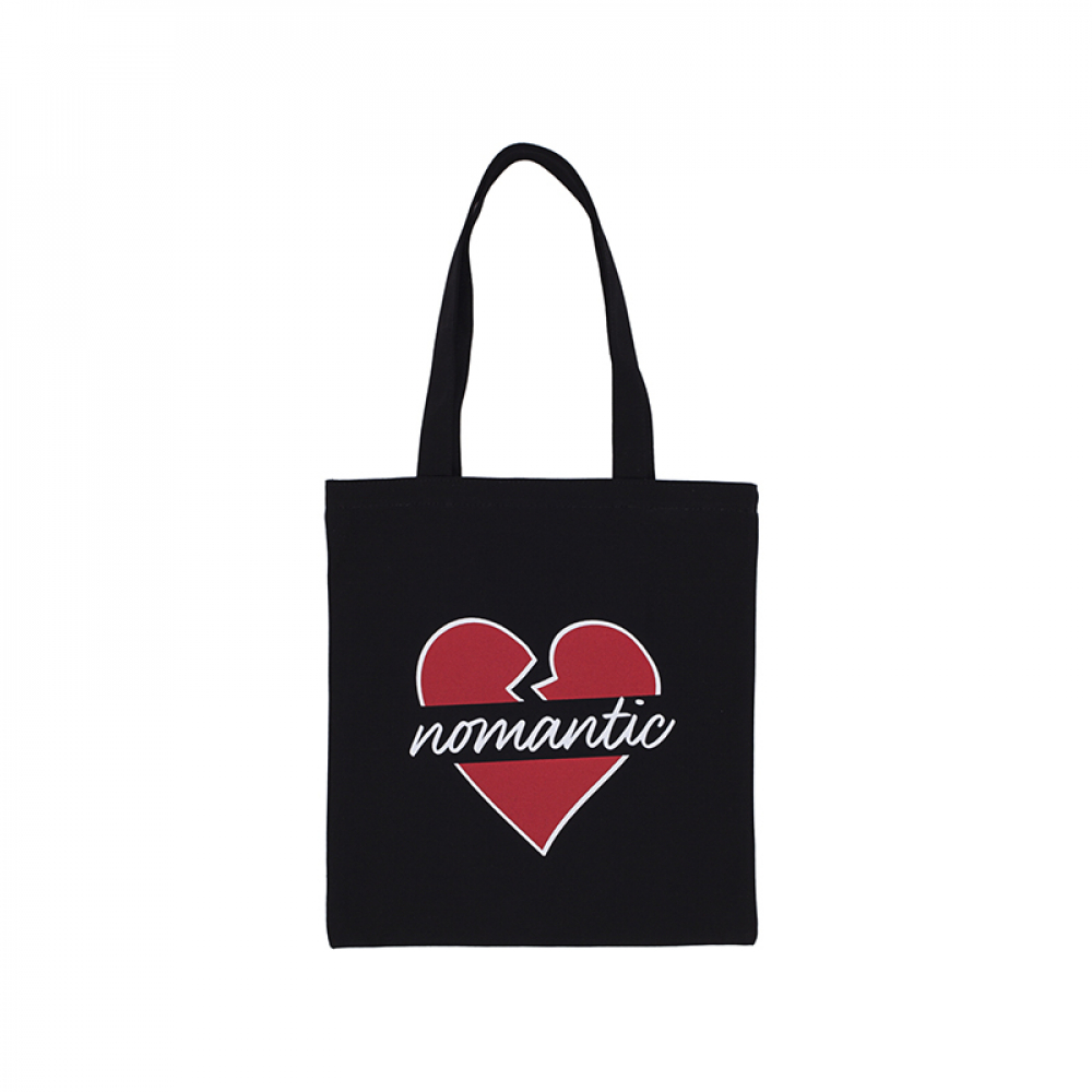 NOMANTIC HEART ECO BAG BLACK