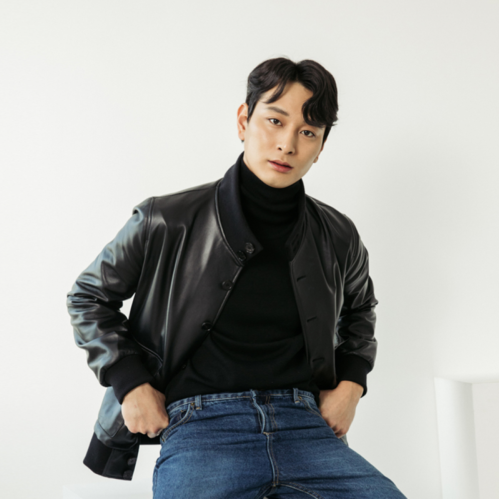 [스페로네] LAMB SKIN A-1 JACKET [BLACK]