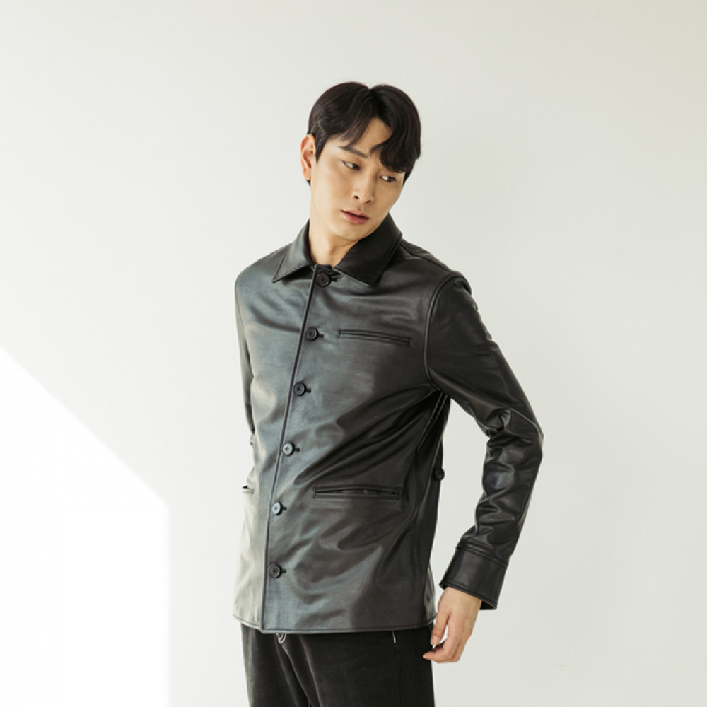 [스페로네] HORSE SKIN BOMBER LEATHER JACKET [BLACK]