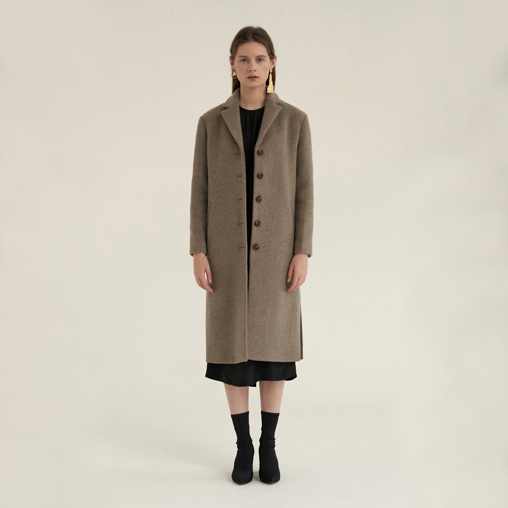 [노타] WARM DEVELOP COAT MELANGE D/BEIGE