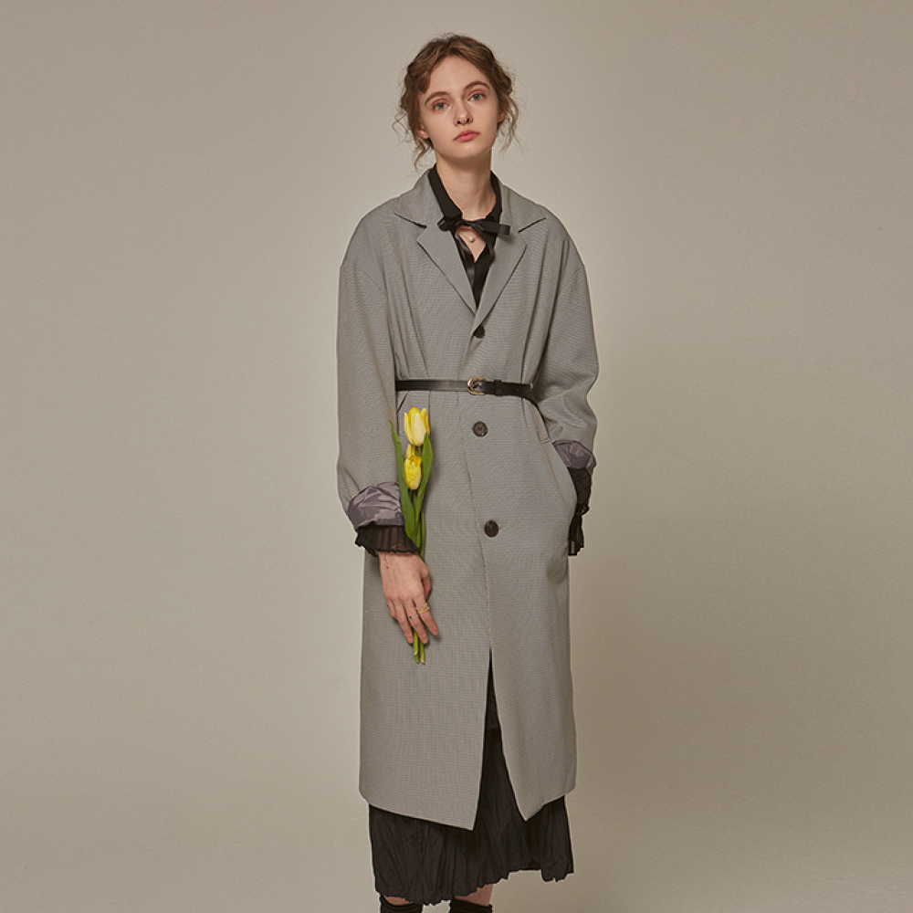 [YAN13] OVER HOUND CH LONG COAT_GRAY