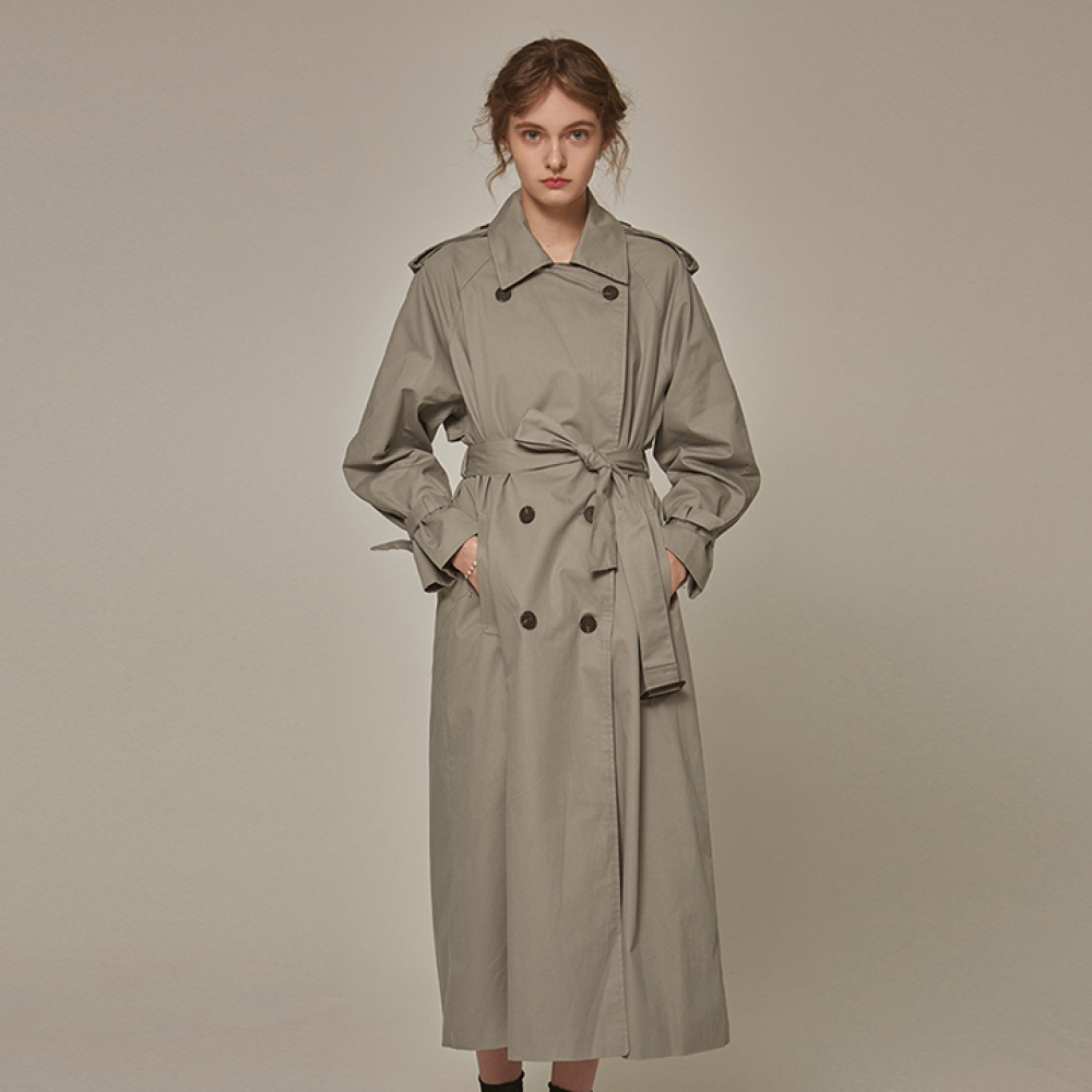 [YAN13] TRENDY OVER TRENCH COAT_GRAY