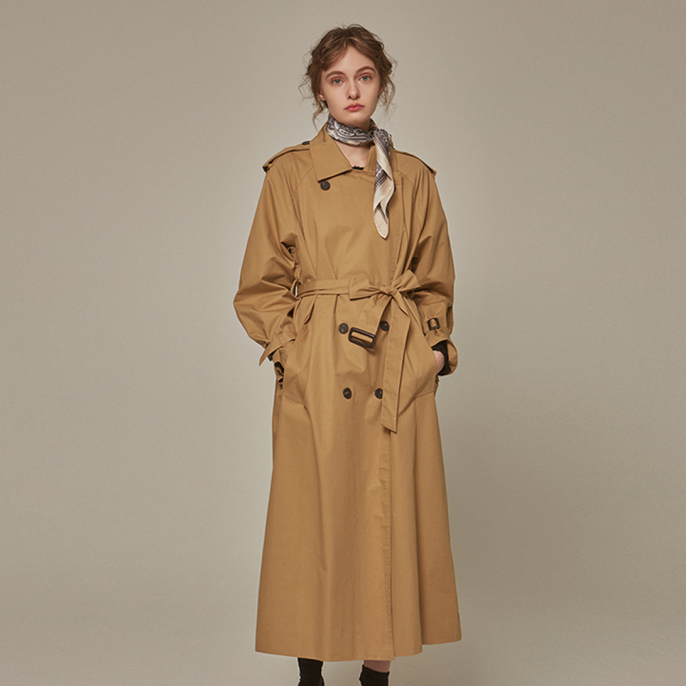 [YAN13] TRENDY OVER TRENCH COAT_BEIGE