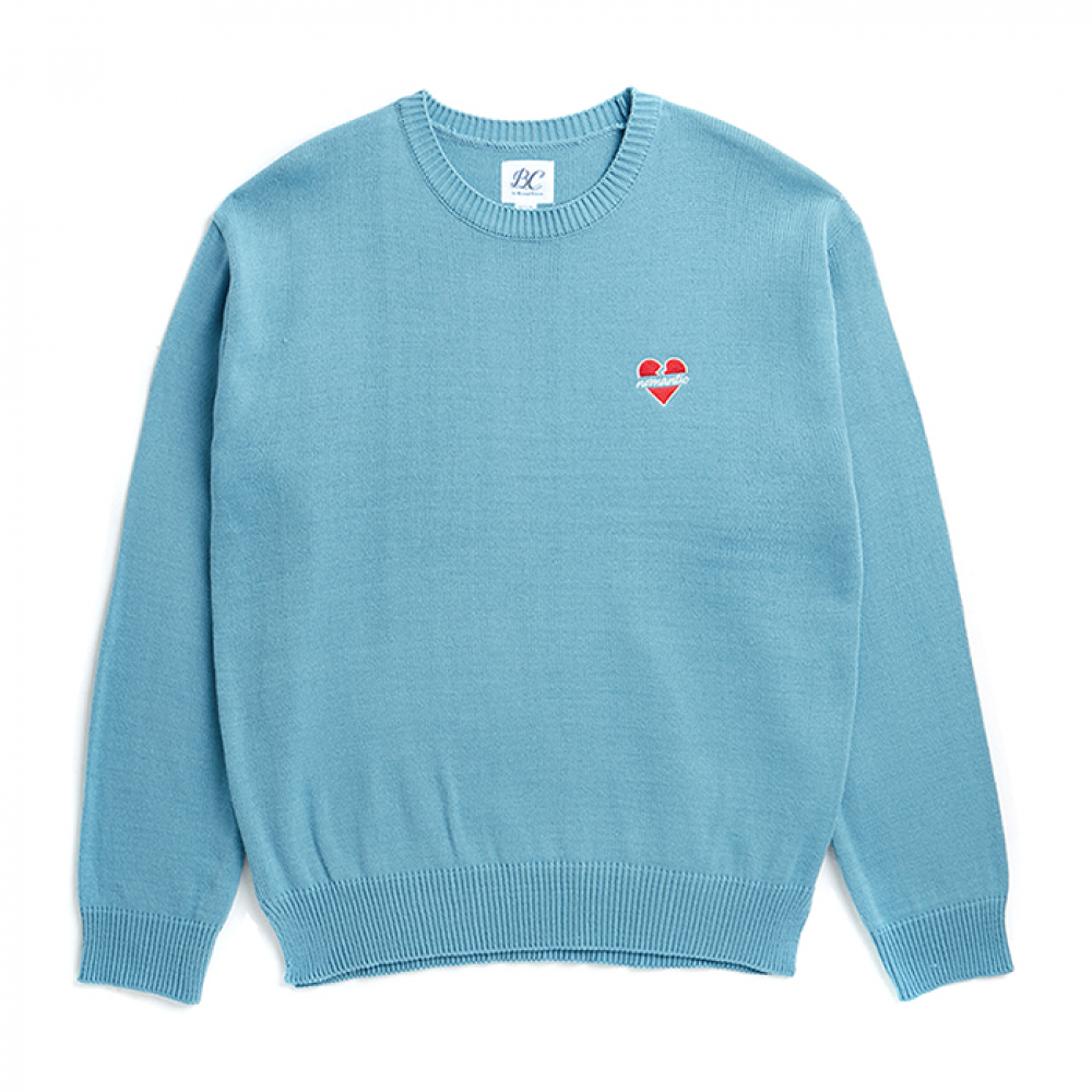 [3/5출고] NOMANTIC LOGO BASIC KNIT BLUE