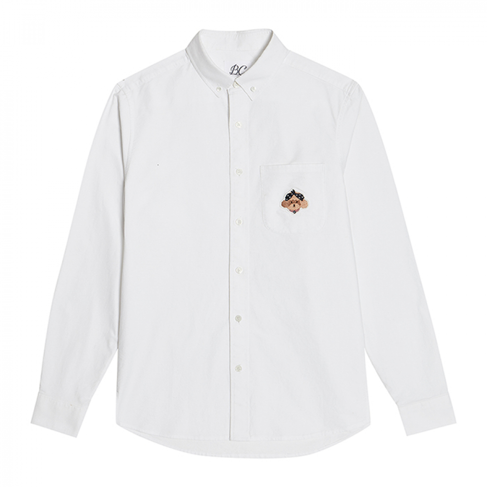 [비욘드클로젯] ILP SIGNATURE LOGO OXFORD SHIRTS WHITE
