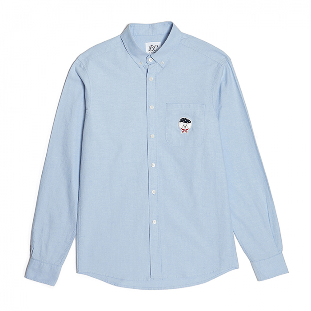 [비욘드클로젯] ILP SIGNATURE LOGO OXFORD SHIRTS BLUE