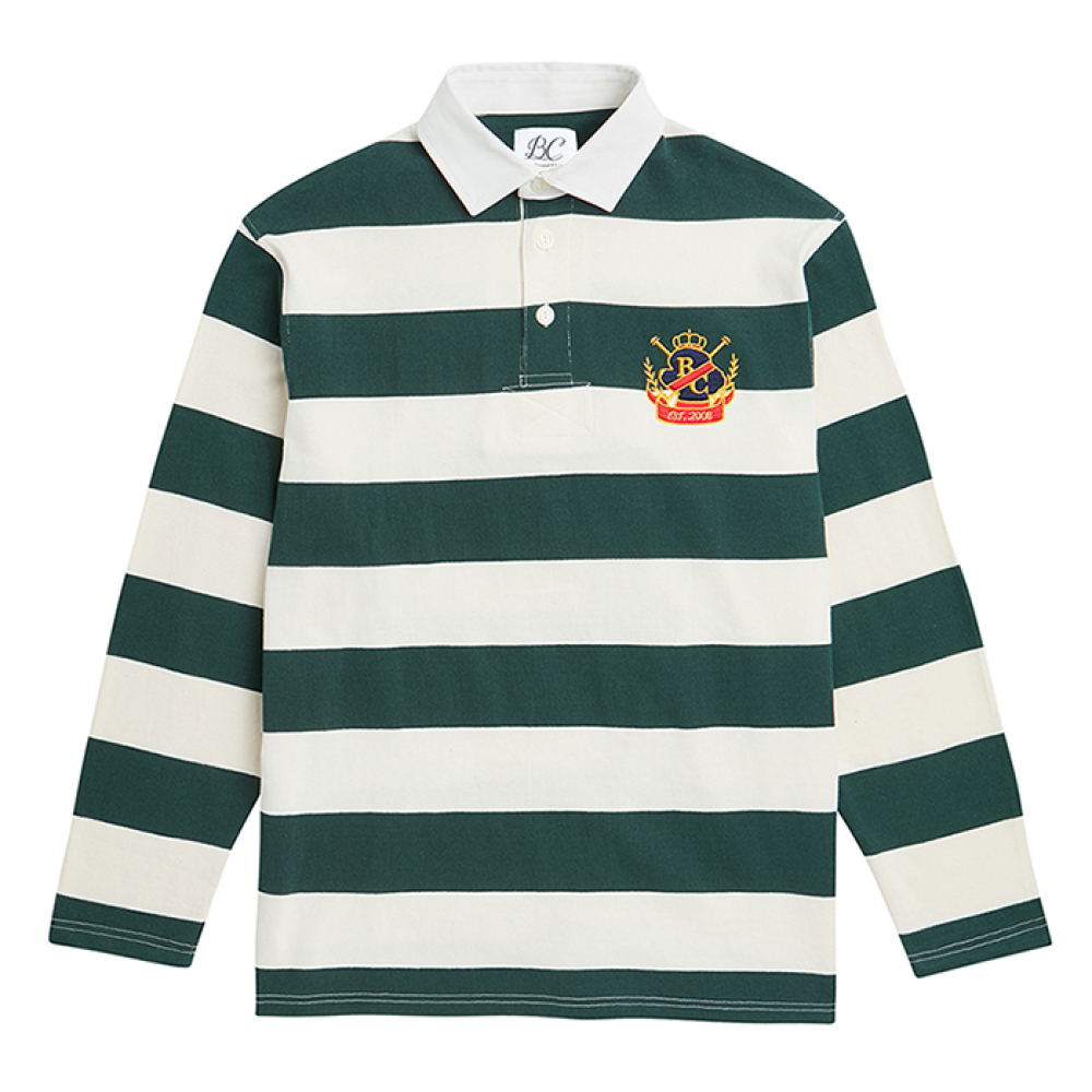 [비욘드클로젯] ILP STRIPE RUGBY T-SHIRTS GREEN