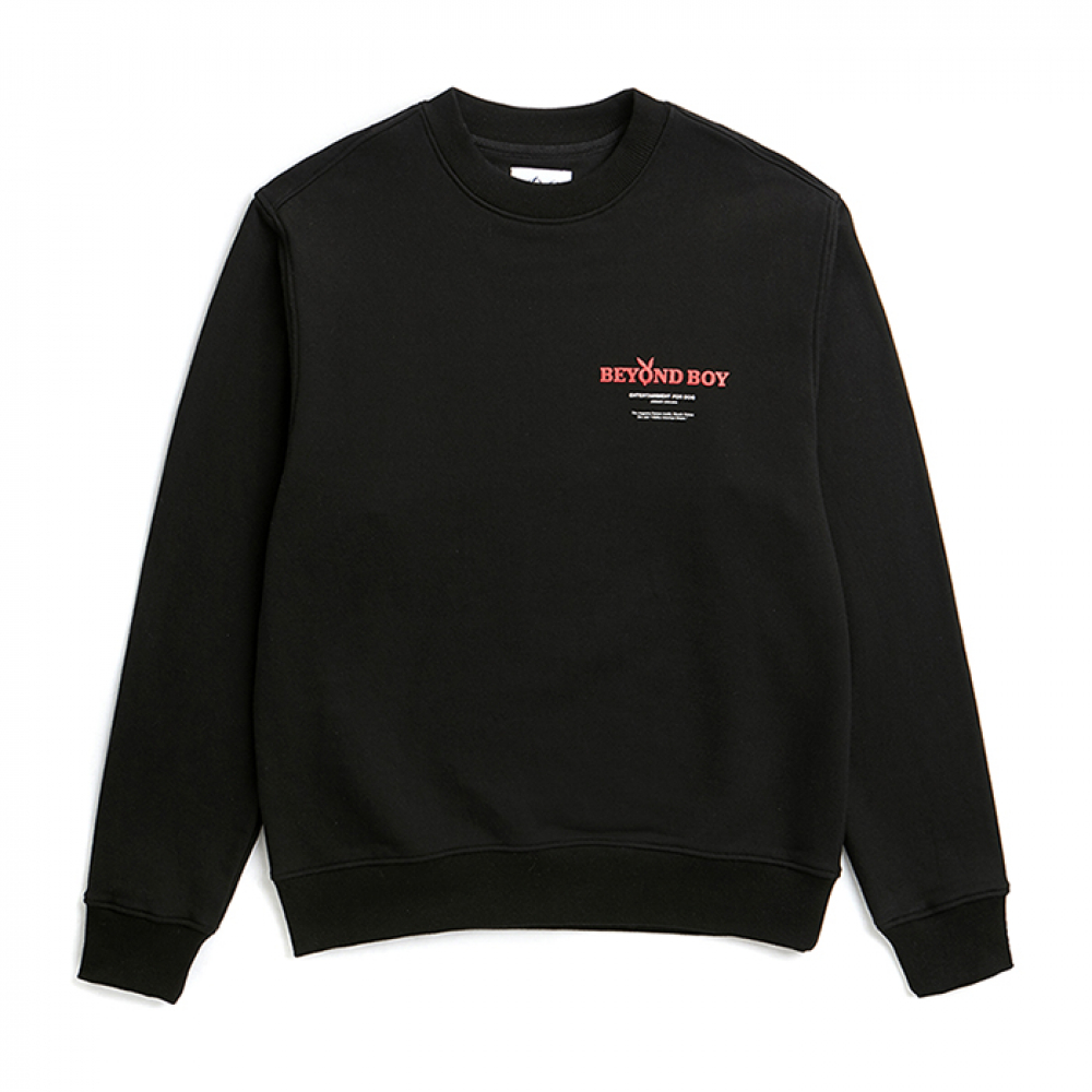 [비욘드클로젯] ILP PLAY DOG PATCH SWEAT-SHIRTS BLACK