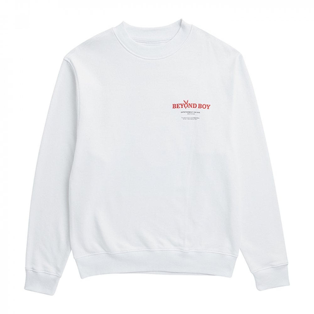 [비욘드클로젯] ILP PLAY DOG PATCH SWEAT-SHIRTS WHITE