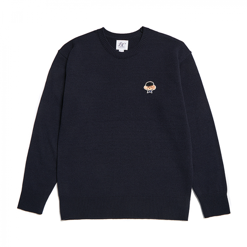 [비욘드클로젯] ILP SIGNATURE SMALL LOGO KNIT NAVY