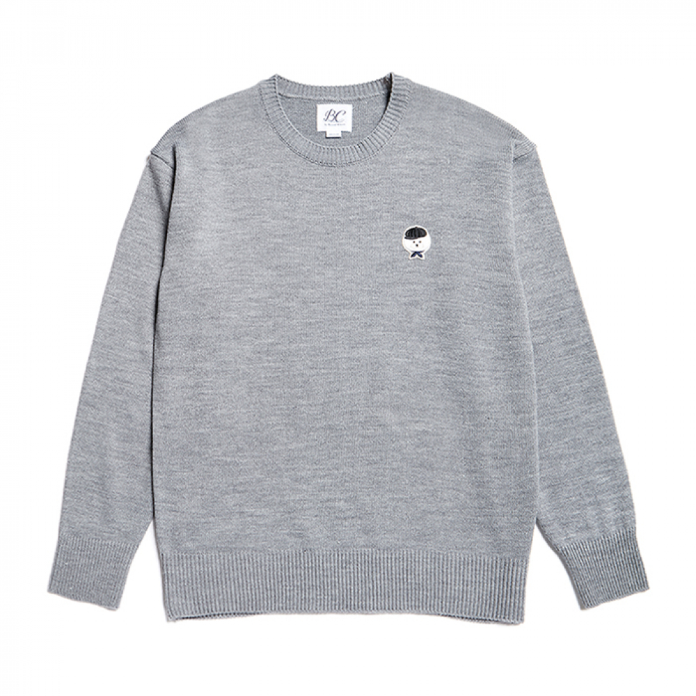 [비욘드클로젯] ILP SIGNATURE SMALL LOGO KNIT GRAY