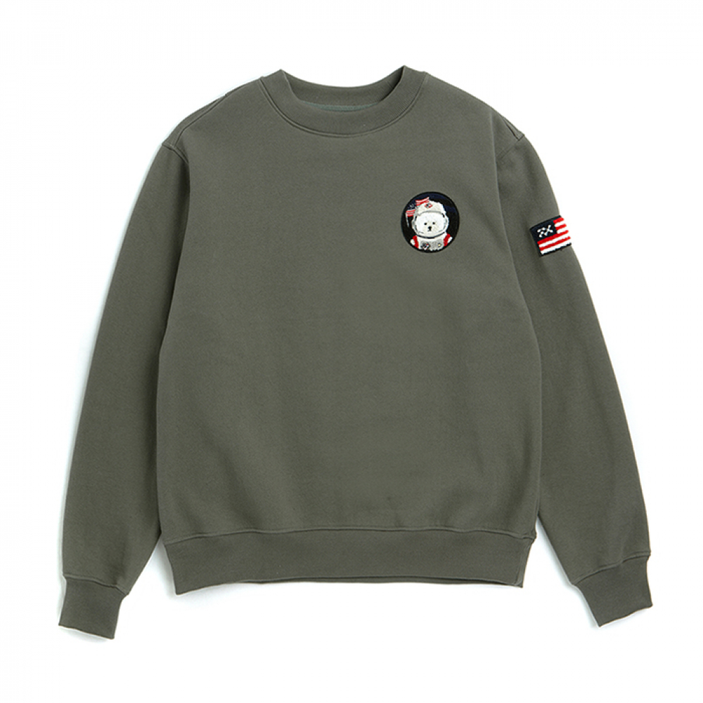 [비욘드클로젯] [RE-EDITION]APOLLO W-WAPPEN SWEAT-SHIRTS 2019VER KHAKI