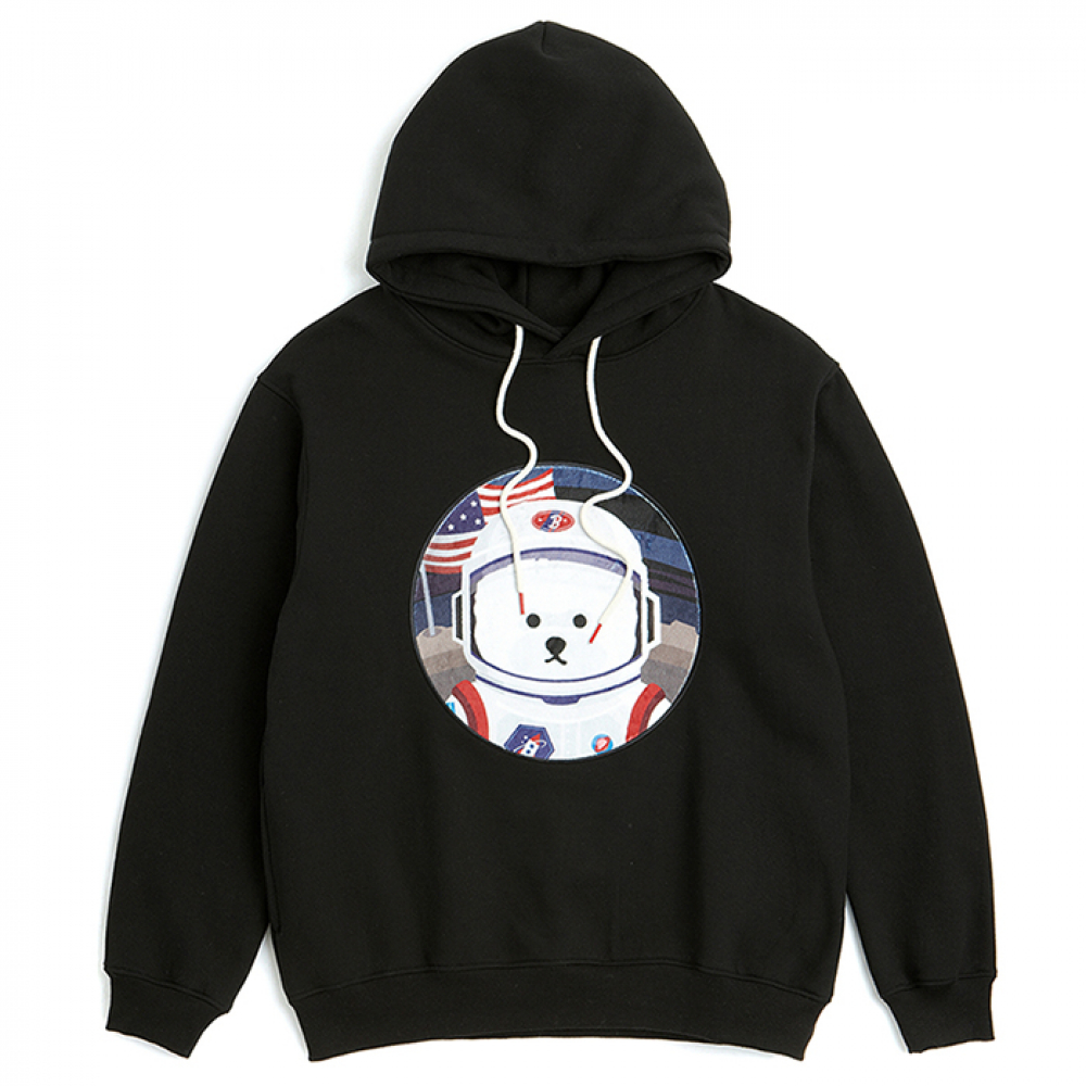 [비욘드클로젯] [RE-EDITION]APOLLO DOG PATCH HOOD T-SHIRTS 2019VER BLACK