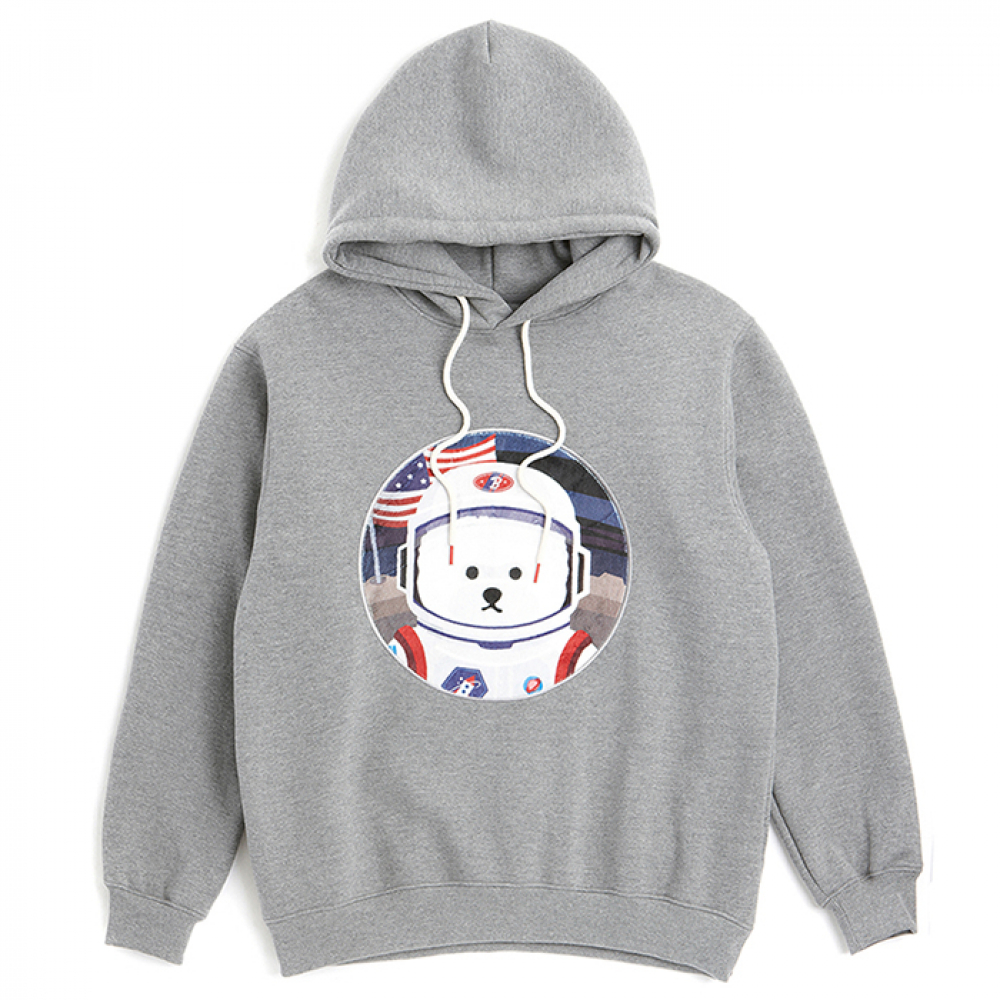 [비욘드클로젯] [RE-EDITION]APOLLO DOG PATCH HOOD T-SHIRTS 2019VER GRAY