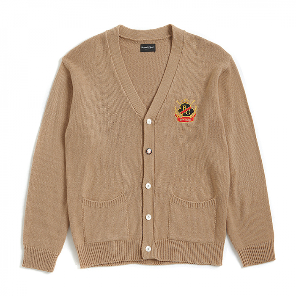[비욘드클로젯] PREPPY HEAVY GAUGE CARDIGAN BEIGE