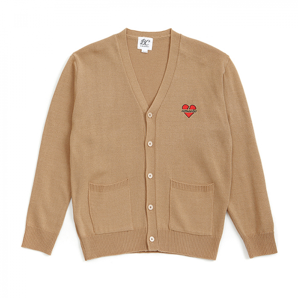 [3/7출고] NOMANTIC LOGO KNIT CARDIGAN BEIGE