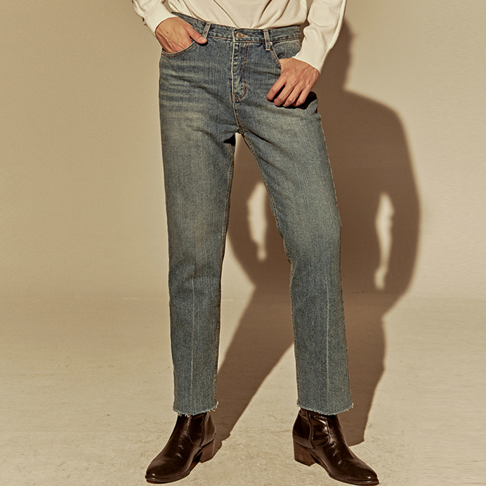 [DEANS] CUT STRAIGHT VINTAGE JEAN_DENIM