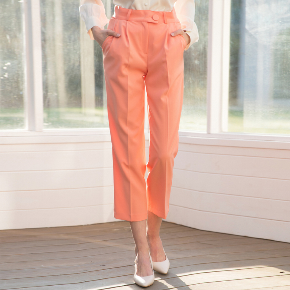 [클렛] SPRING TUCK PANTS PEACH