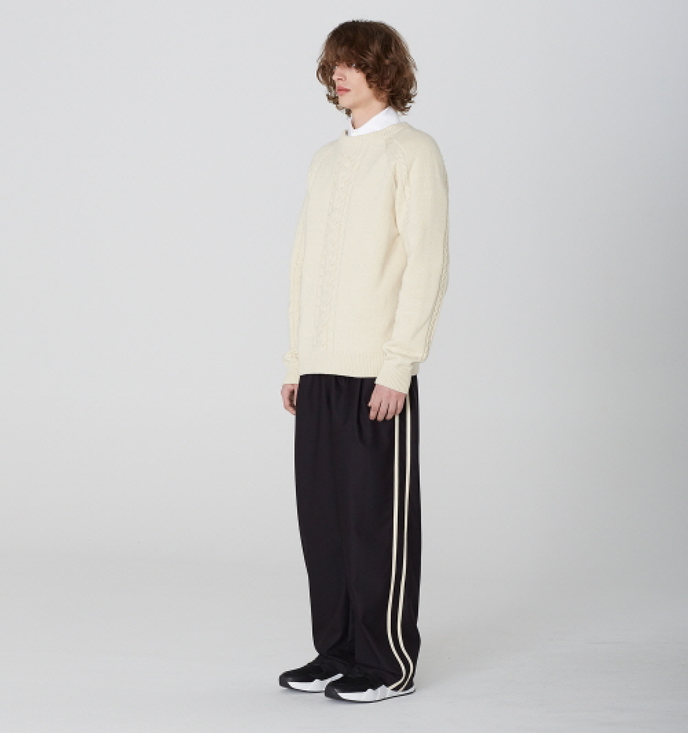 [디바이디그낙] 2 Line Wide Pants (BK)