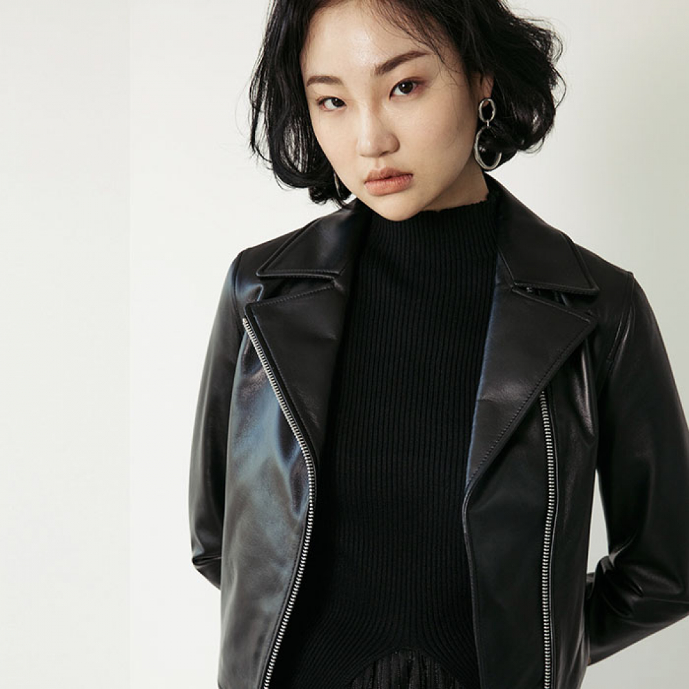 [스페로네] LAMB SKIN RIDER JACKET [BLACK]