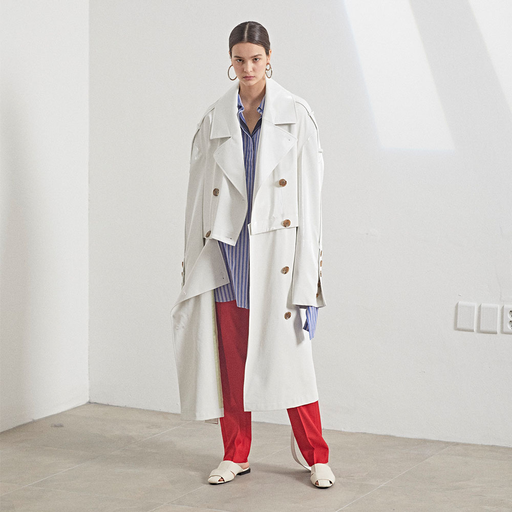 [MUSEE]Fieno Oversized Trench Coat _ White