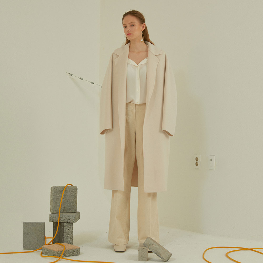 [MUSEE] Manet cashmere blended wool coat_ivory