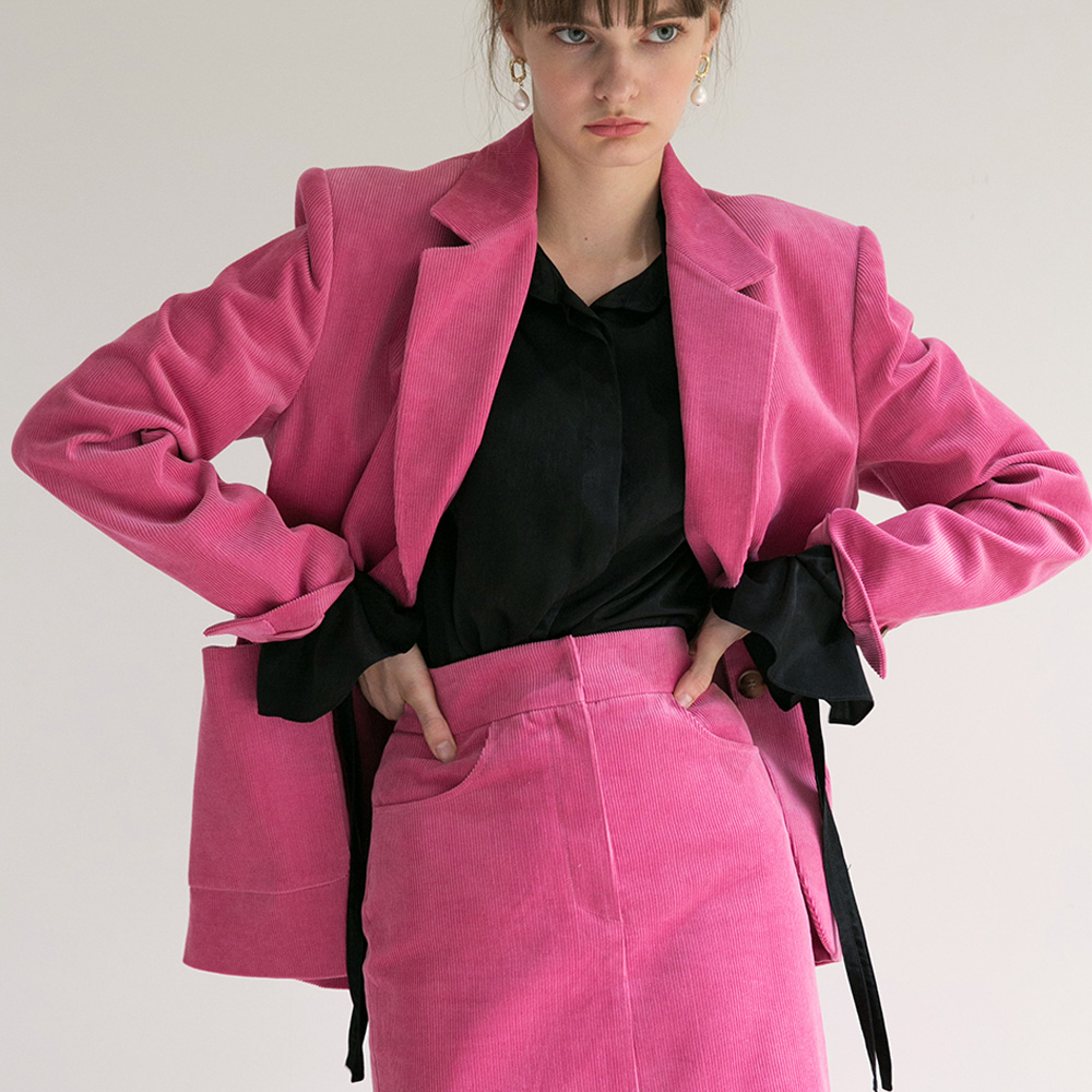 [로지에] [로지에]18fw out pocket jacket pink