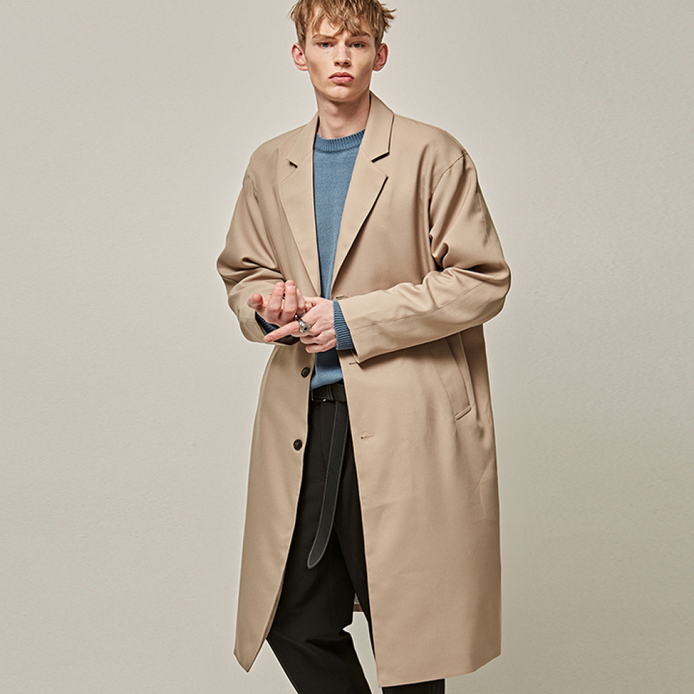 [YAN13] CLASSIC OVER SINGLE LONG COAT_BEIGE