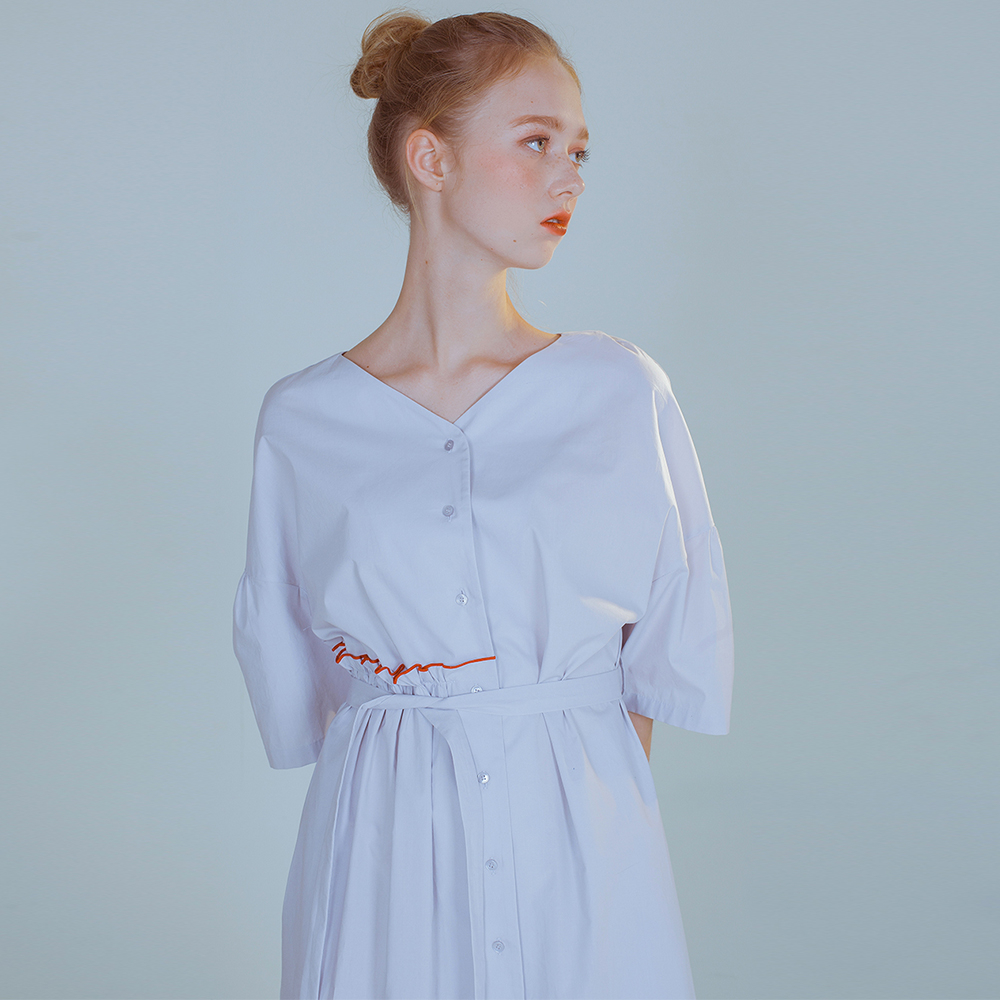 [PHILOCALY] Flow shirt dress_light grey
