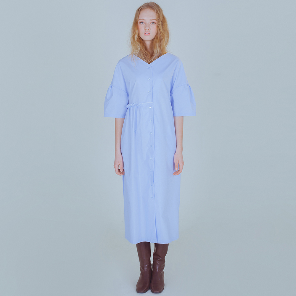 [PHILOCALY] Flow shirt dress_light blue