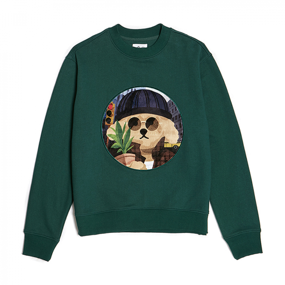 MOVIE MAN DOG PATCH S-S 2019VER GREEN