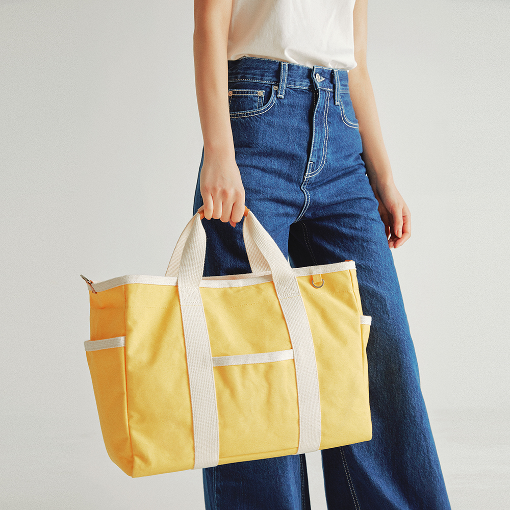[조니조니] Sketch canvas bag_Yellow