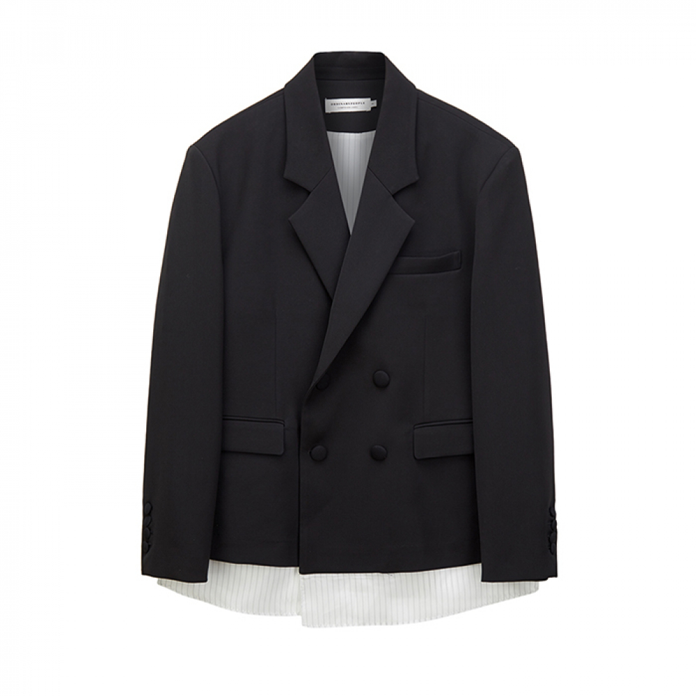 double breasted lining point jacket