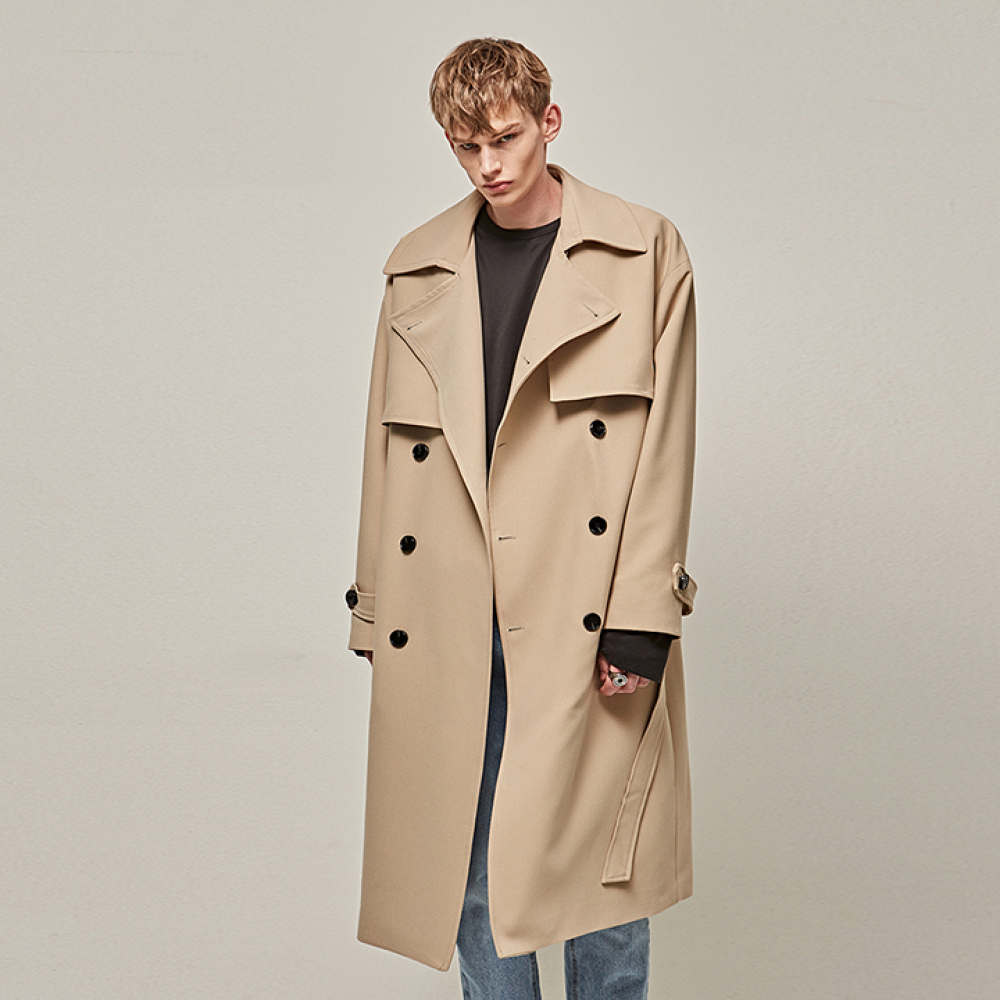 [YAN13] MANNISH OVER TRENCH COAT_BEIGE