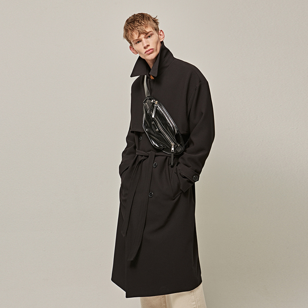 [YAN13] MANNISH OVER TRENCH COAT_BLACK