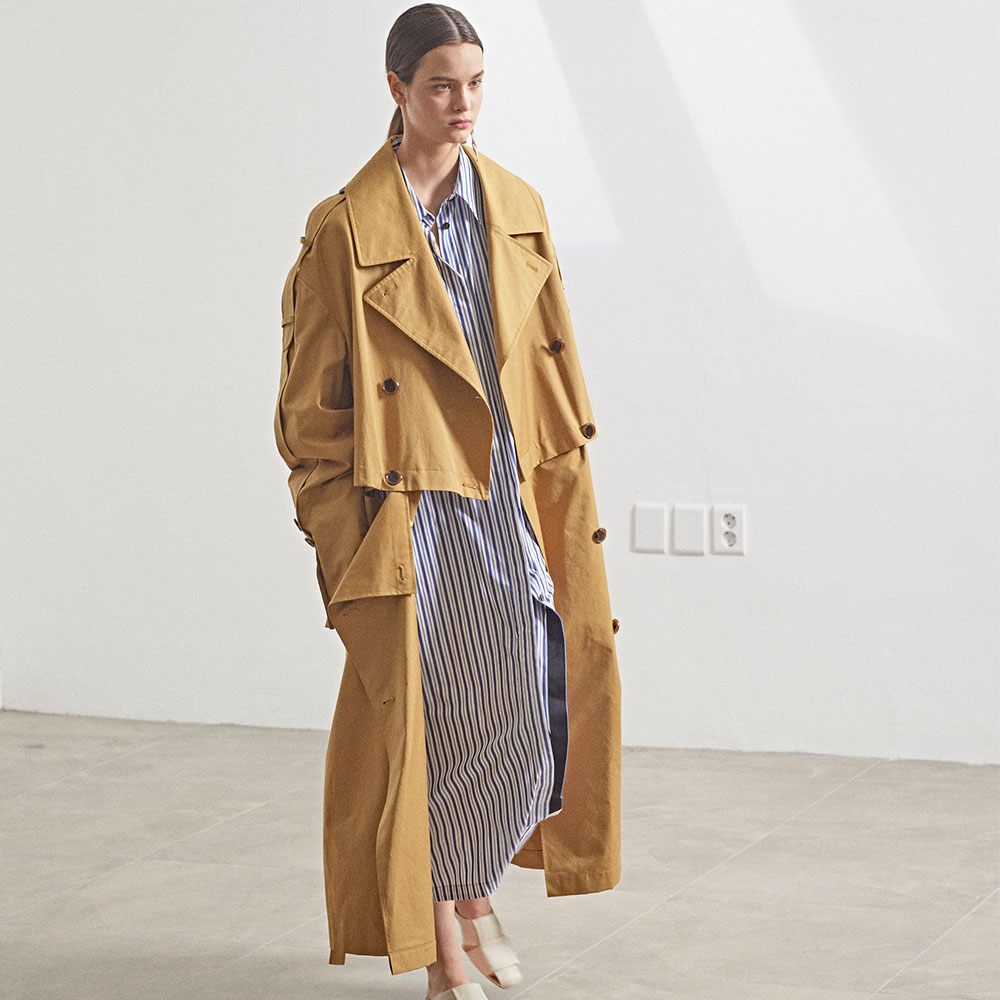 [MUSEE]Fieno Oversized Trench Coat _Mustard camel