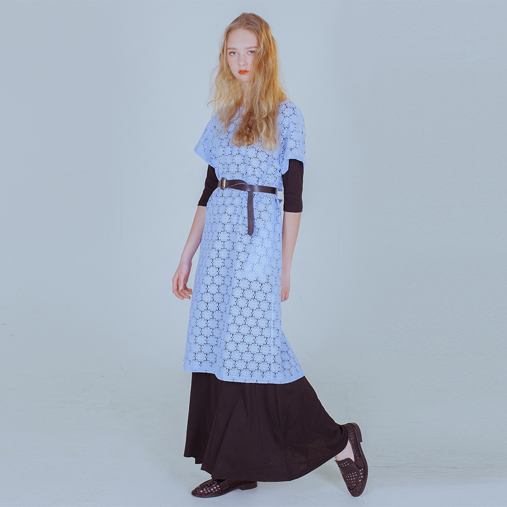 [PHILOCALY] Flower robe dress_light blue
