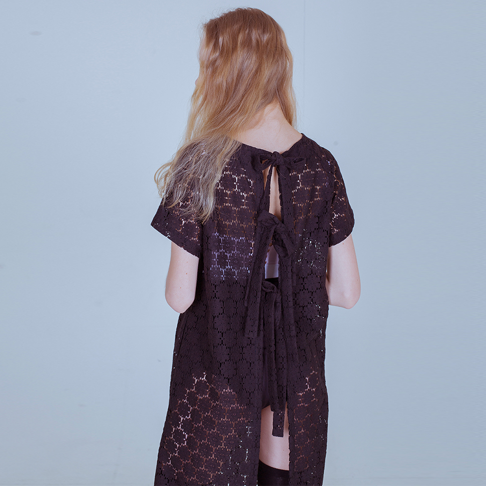 [PHILOCALY] Flower robe dress_black