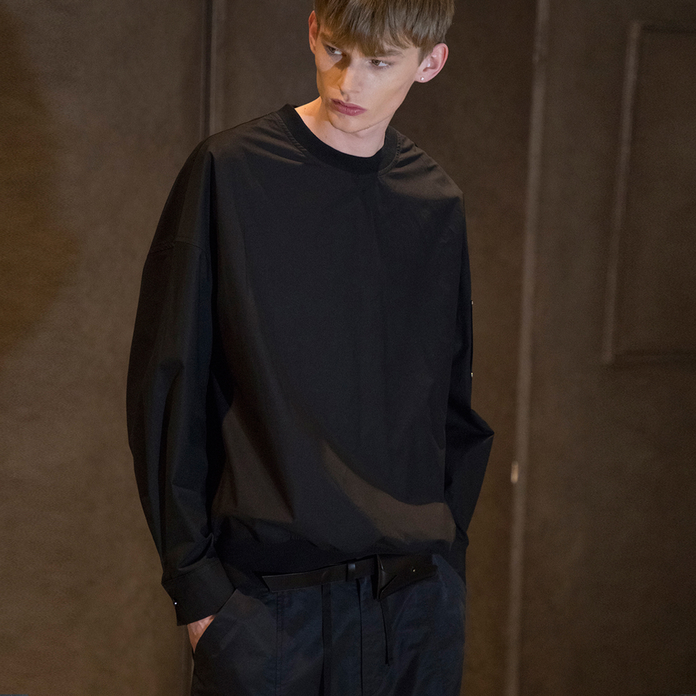 [노이어] Overfit Pullover Field Shirts Black