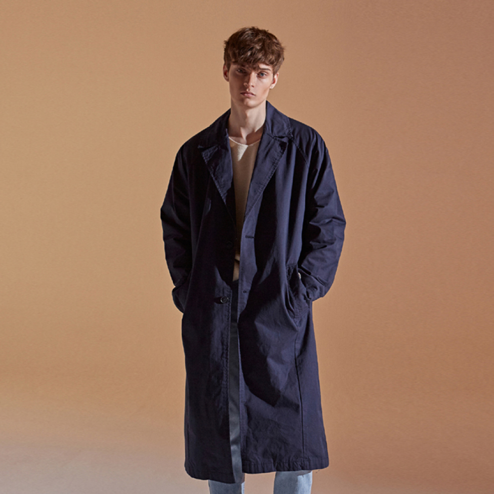 [DEANS] COTTON RAGLAN LONG COAT_NAVY