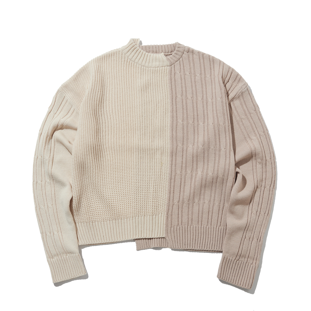 color-texure mixed iv&bg sweater