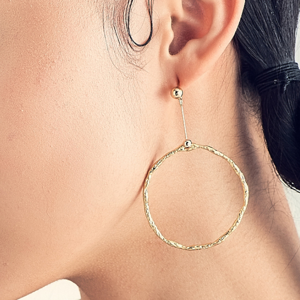 [엘리오나] Circular Ripple Earrings